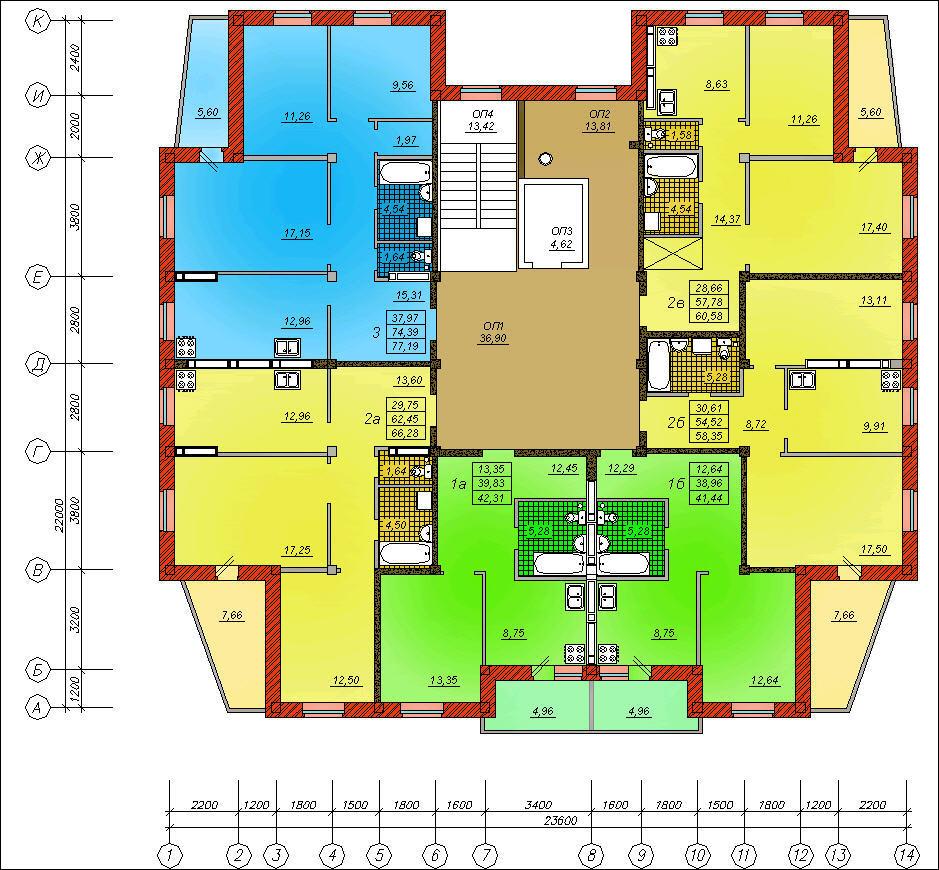 Размер балкона в 16 этажном доме на каждом этаже.