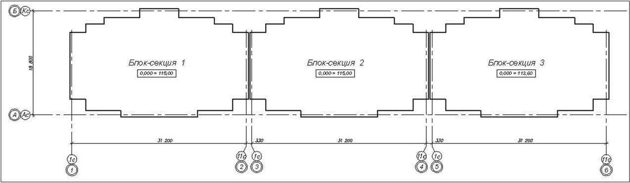 Компоновочная схема дома 3Б-4