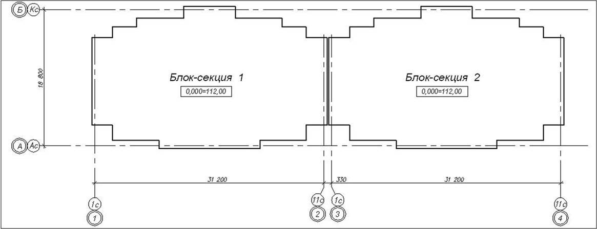 Компоновочная схема дома 3Б-5