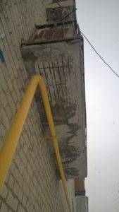 Разрушение плиты балкона