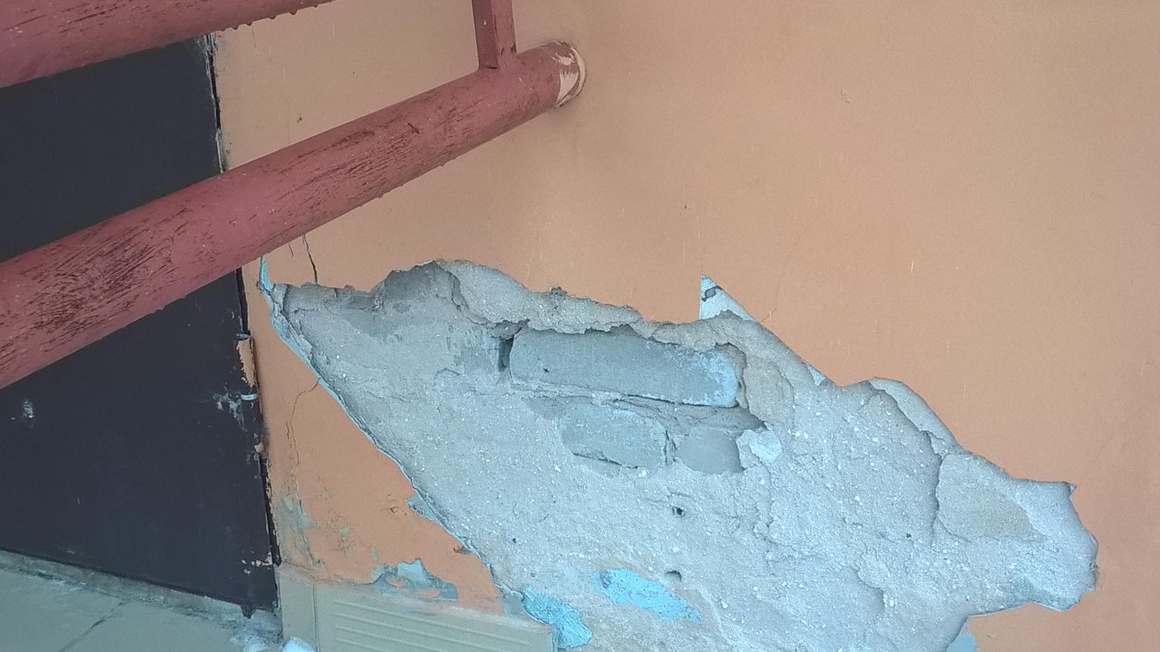 Увлажнение наружной стены с обмерзанием